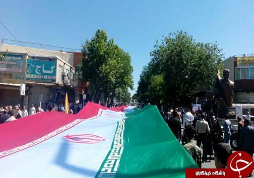 جلوه های  ویژه پیش از آغاز راهپیمایی روز جهانی قدس در مازندران/آغاز راهپیمایی روز قدس در شهرهای مازندران به روایت تصویر