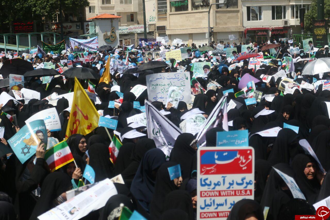 آغاز راهپیمایی باشکوه روز جهانی قدس در مشهد