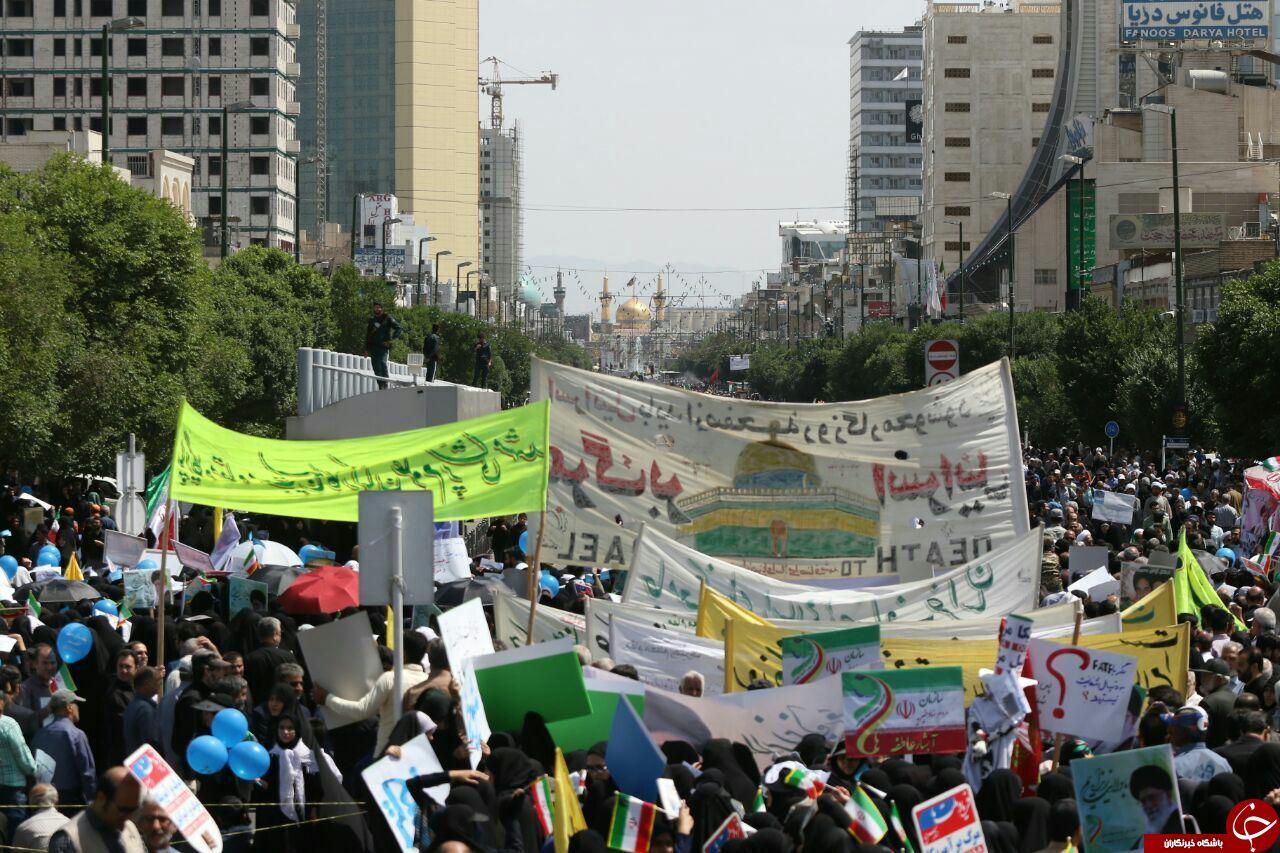 آغاز راهپیمایی باشکوه روز جهانی قدس در مشهد+ تصاویر