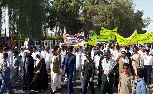 فریاد آزادی خواهی مردم مرزدار سیستان و بلوچستان در دفاع از مظلومیت فلسطین + تصاویر