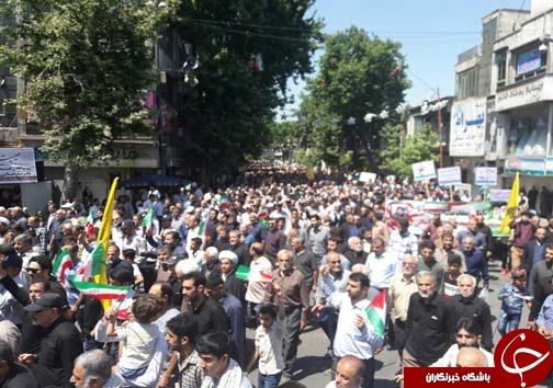 جلوه های ویژه آغاز راهپیمایی روز جهانی قدس در مازندران/ راهپیمایی روز قدس در شهرهای مازندران به روایت تصویر
