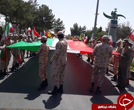 حضور حماسی مردم روزه دار بیرجند در راهپیمایی روز قدس+تصاویر