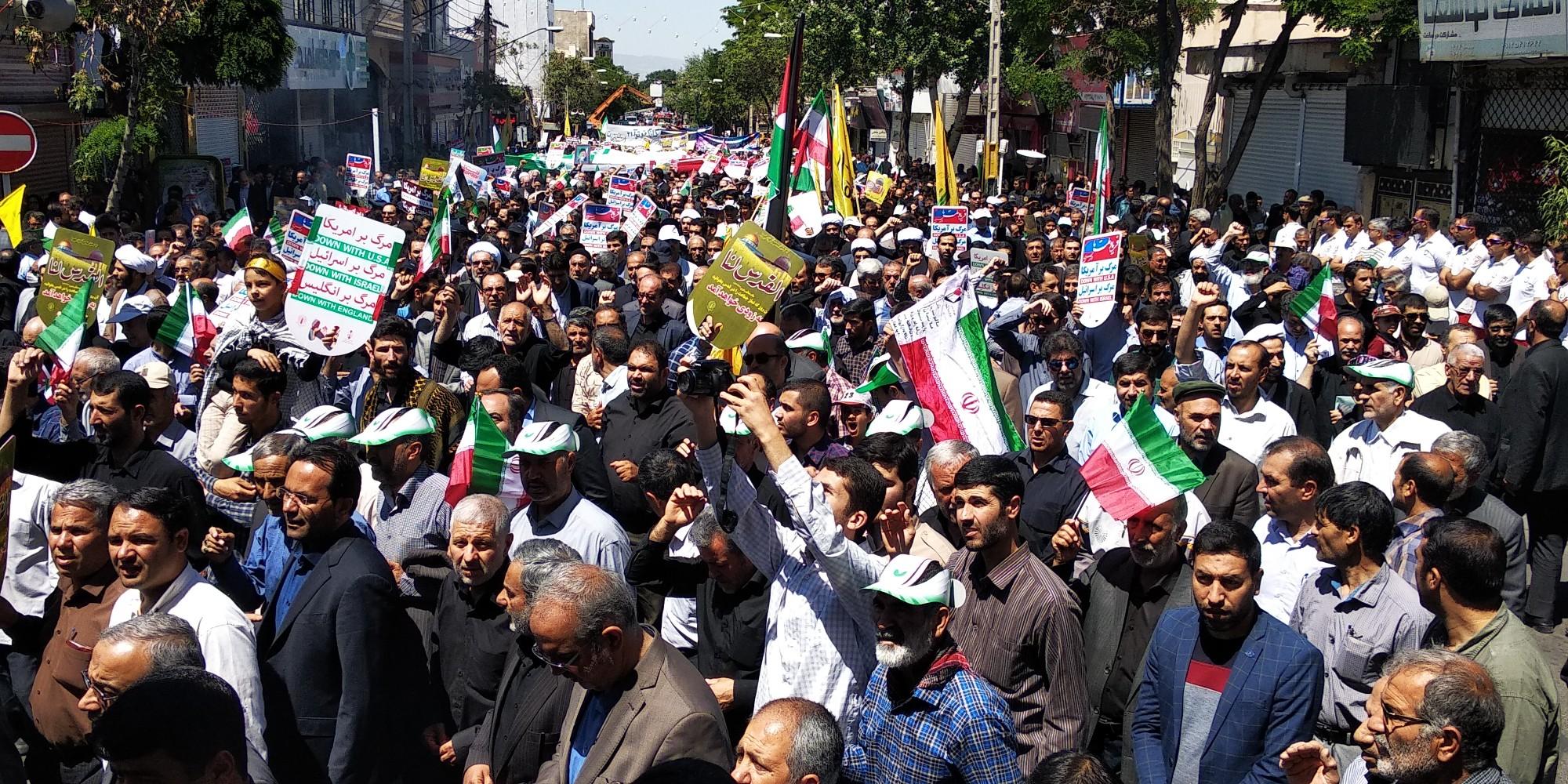 آغاز راهپیمایی روز قدس در زنجان