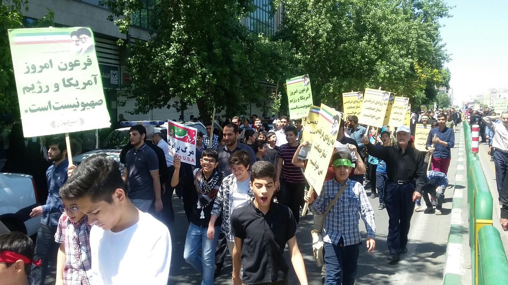 لحظه به لحظه با راهپیمایان روزهدار تهرانی در مراسم روز قدس