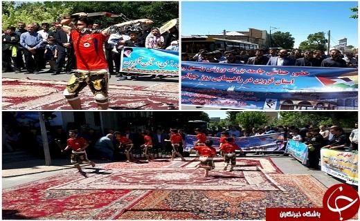 موج عدالت خواهی مردم استان قزوین در روز قدس