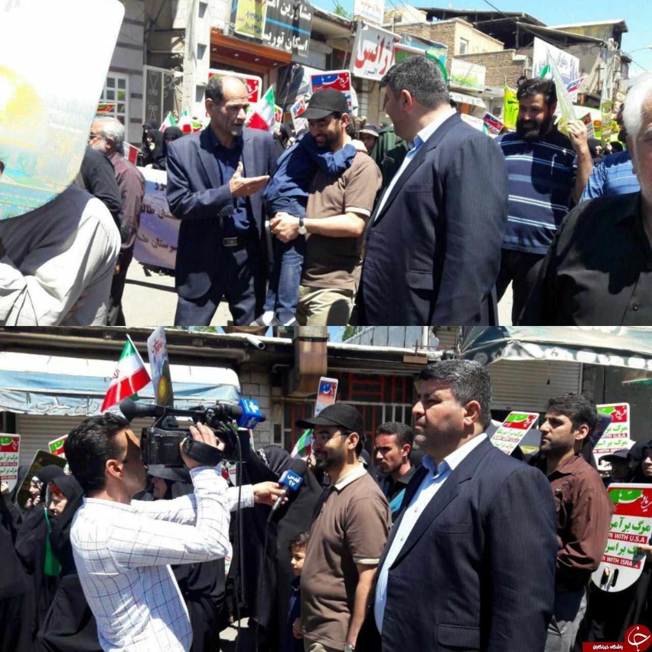 تیپ متفاوت وزیر ارتباطات در راهپیمایی روز قدس +عکس
