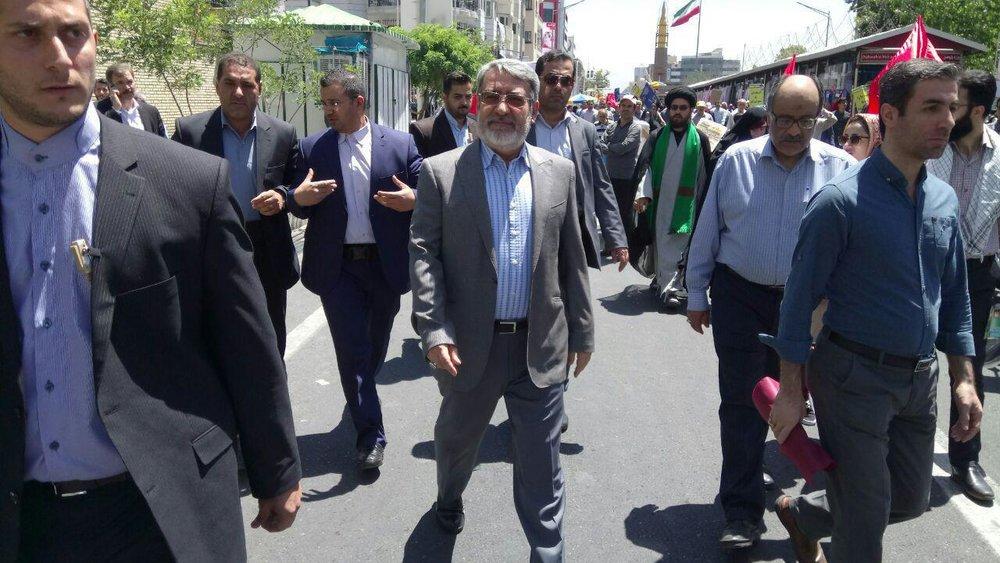 حمایت همه جانبه تهرانیها از آرمان فلسطین/ برگزاری دادگاه علنی ترامپ در روز قدس