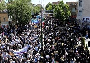 راهپیمایی دشمنشکن روز قدس در همدان برگزار شد