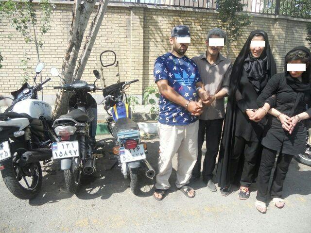 متلاشی شدن باند 4 نفره سرقت در تهران/ شناسایی طعمه در فضای مجازی + عکس