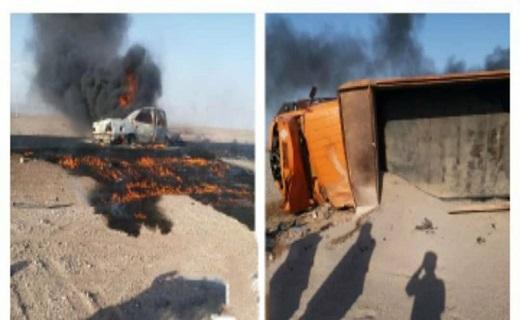 تصادف مرگبار در محور جنوب سیستان وبلوچستان + عکس