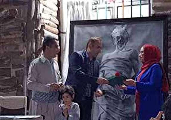 باشگاه خبرنگاران - رونمایی از تابلو نقاشی هژار در پیرانشهر