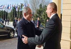 دیدار مقامات جمهوری آذربایجان و رژیم صهیونیستی همزمان با کشتار غزه