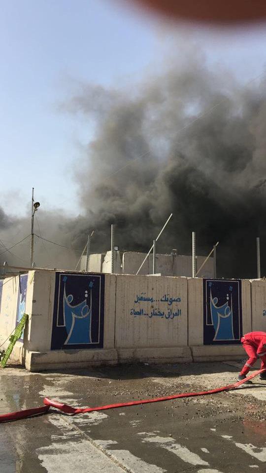 آتش سوزی در بزرگترین انبار آراء انتخاباتی عراق