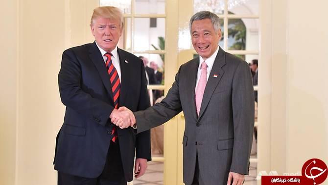 ترامپ با نخستوزیر سنگاپور دیدار کرد