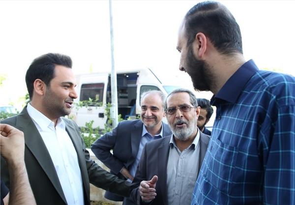 بازدید علی اصغر پورمحمدی از پشت صحنه ماه عسل