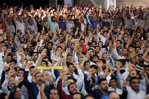 حضور فعال دانش آموزان پیشتاز در مراسم نماز عید سعید فطر