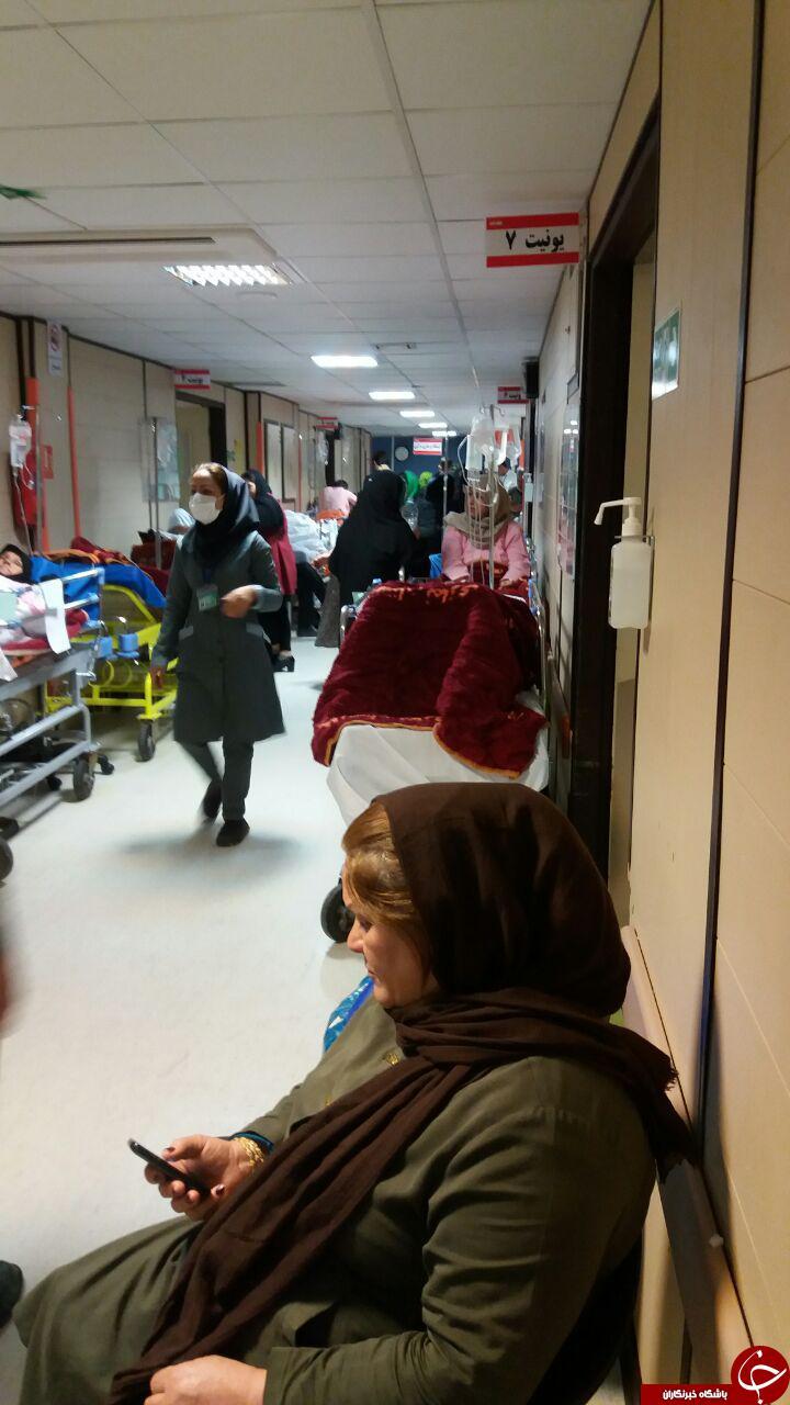 بستری شدن بیماران در راهروی بیمارستان نمازی + تصاویر