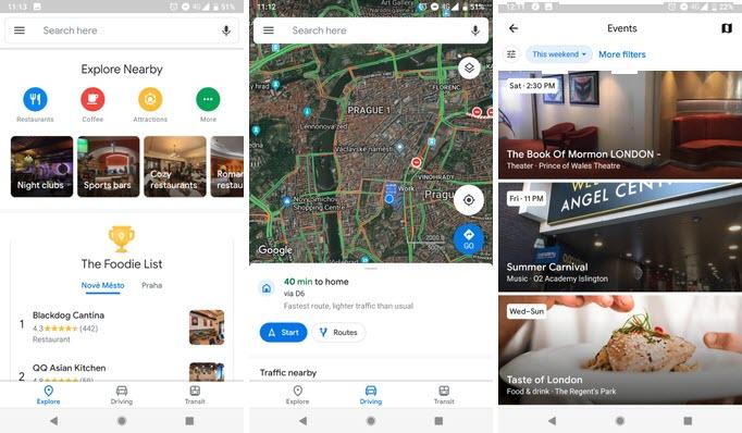 نرمافزار گوگل مپ با تغییرات اساسی در طراحی، برای برخی کاربران منتشر شد