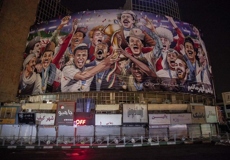 رونمایی از دیوارنگاره جدید میدان ولیعصر (عج) + عکس