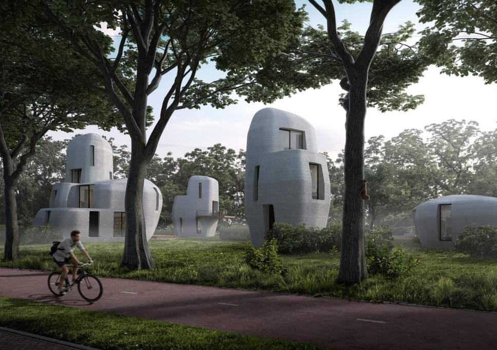 ساخت اولین خانههای قابل سکونت با فناوری چاپ سه بعدی +فیلم