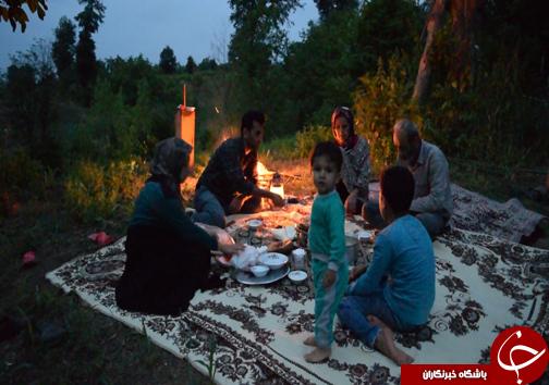از سحر تا افطار با یک خانواده جنگل نشین