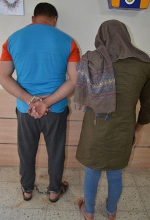 زوج سارق خودرو در رستوران دستگیر شدند + عکس