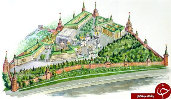 معرفی کاخ کرملین در روسیه +تصاویر