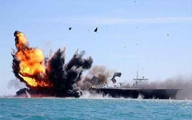 حمله موشکی نیروهای یمنی به کشتی جنگی امارات