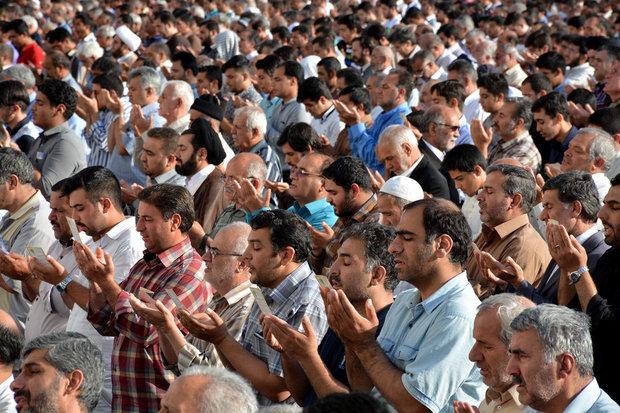 اقامه نماز عید فطر در مصلی همدان به امامت آیت ا... محمدی
