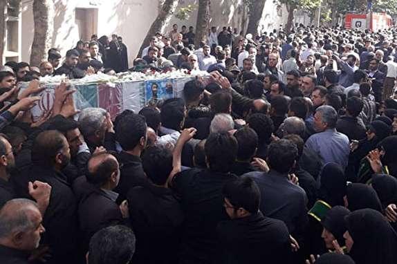 باشگاه خبرنگاران -تشییع پیکر پاک شهید مدافع حرم در گرگان
