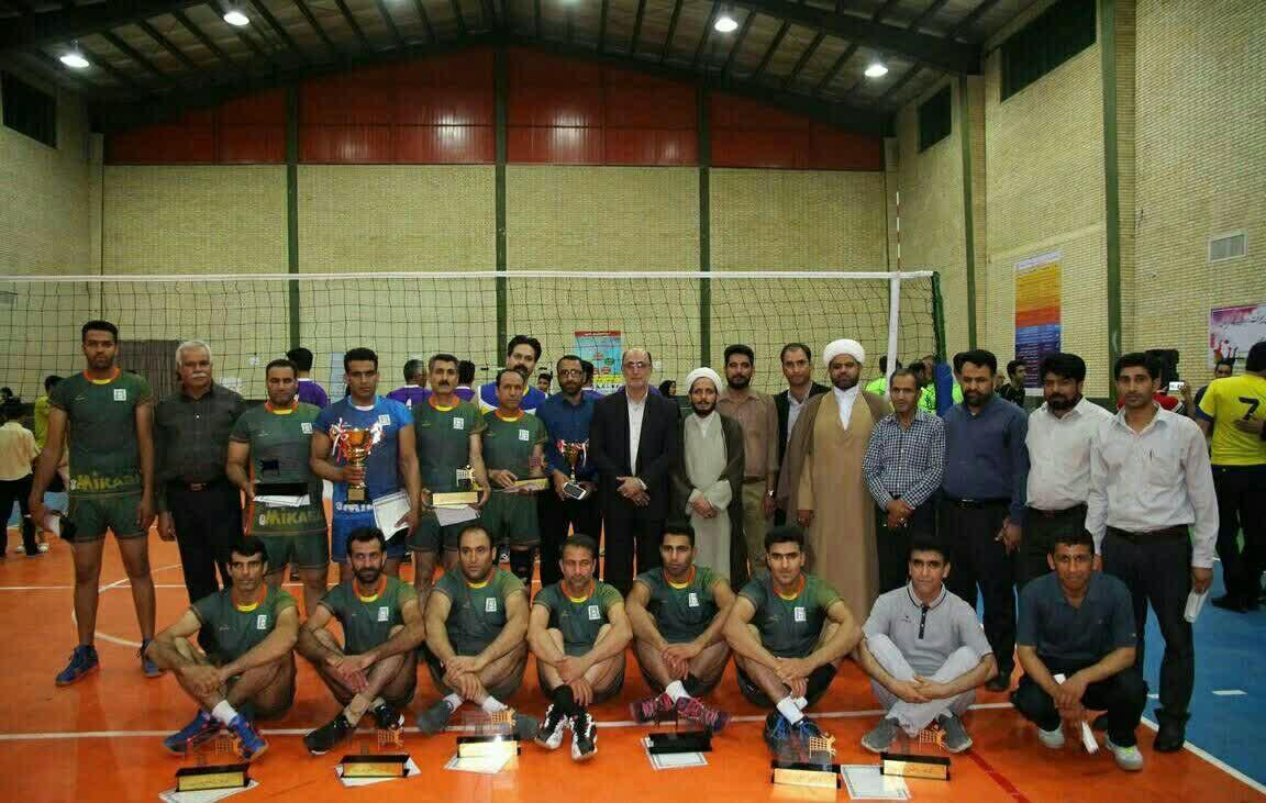 علوم پزشکی الف قهرمان رقابت های والیبال جام رمضان ادارات جیرفت