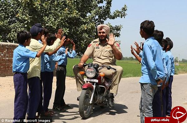 قدبلندترین افسر پلیس جهان در هند خدمت میکند +تصاویر