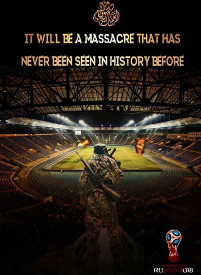 تهدید جدید داعش در آستانه برگزاری بازیهای جام جهانی فوتبال+تصویر