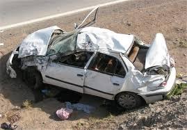 واژگونی خودرو در محور سیرجان - کرمان ۲ کشته بر جا گذاشت