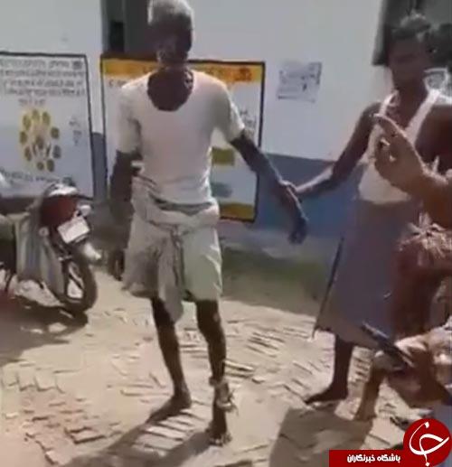 صحنه ای دردناک از گره خوردن مار به پای کشاورز نگون بخت+فیلم