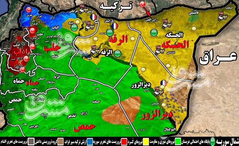 خواب جدید آمریکا، فرانسه، سعودیها و ترکیه برای شمال سوریه + نقشه میدانی