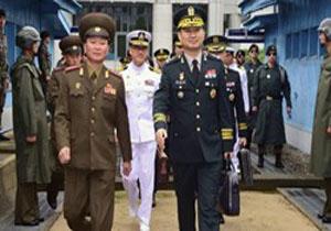 دیدار فرماندهان نظامی ارشد دو کره پس از یک دهه