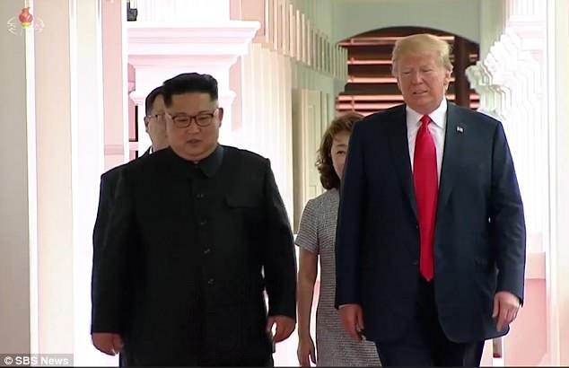 تصاویر تلویزیون دولتی کره شمالی گاف دونالد ترامپ را لو داد+تصاویر