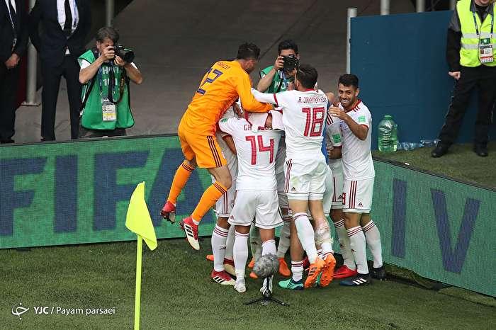 دیدار تیم های فوتبال ایران و مراکش در جام جهانی روسیه