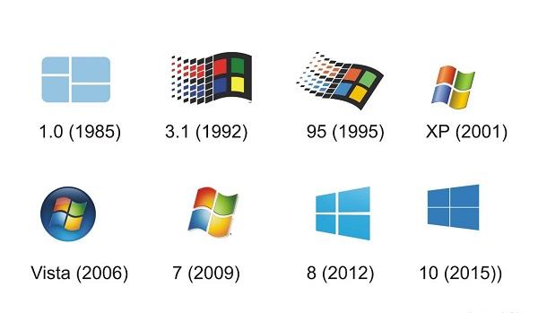 لوگوی سیستم عاملهایی شرکت مایکروسافت در گذر زمان +تصاویر