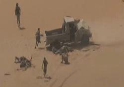 لحظه شلیک به خودروی مزدوران سعودی در نجران + فیلم