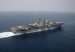 ناو بزرگ جنگی آمریکا وارد خلیج فارس شد