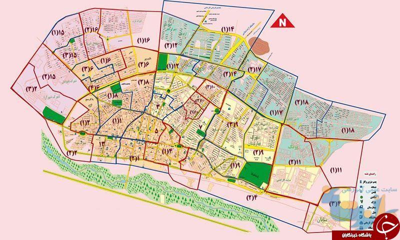 برنامه نقشه زنجان