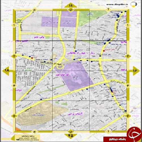 دانلود نقشه شهر کرج برای موبایل و به صورت پی دی اف با جزئیات