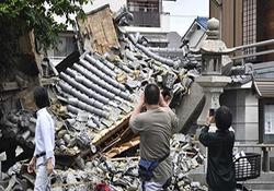 لحظه وقوع و خسارات زلزله 5.9 ریشتری در ژاپن + فیلم