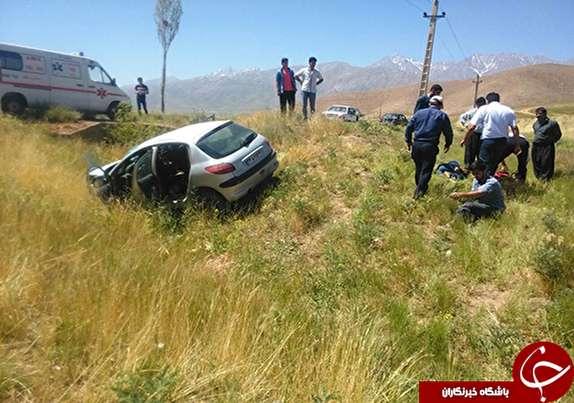 باشگاه خبرنگاران -مصدومیت ۵ نفر بر اثر واژگونی خودرو در ازنا+تصاویر