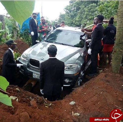 خودروی گران قیمتی که تابوت مرده شد