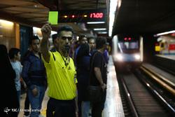تب جام جهانی در متروی تهران