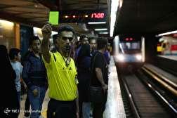 باشگاه خبرنگاران - تب جام جهانی در متروی تهران