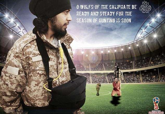 داعش باز هم جام جهانی روسیه را تهدید کرد/اعدام مسی در زمین فوتبال+تصاویر